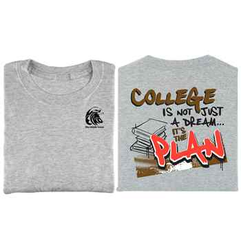 College Is Not Just A Dream...It's The Plan Youth T-Shirt - Personalization Available