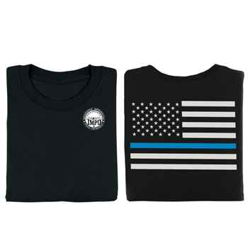 The Thin Blue Line Two-Sided T-Shirt - Personalization Available