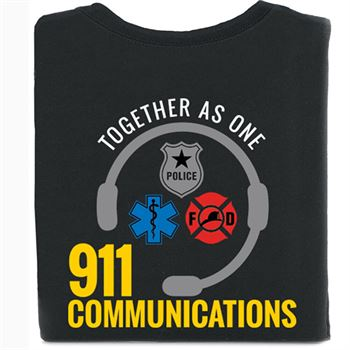 Together As One 911 Communications Short-Sleeve 2-Sided T-Shirt - Personalization Available