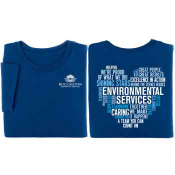 Environmental Services Heart Word Cloud 2-Sided Short Sleeve T-Shirt - Personalized