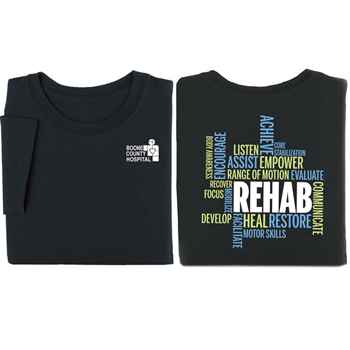 Rehab Word Cloud Two-Sided Short Sleeve T-Shirt - Personalized