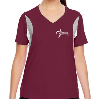 Team 365® Ladies' Short-Sleeve Athletic V-Neck Tournament Jersey - Personalization Available