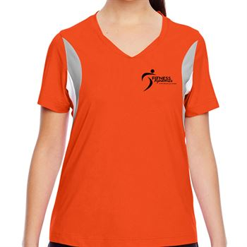 Team 365 Ladies' Short-Sleeve Athletic V-Neck Tournament Jersey