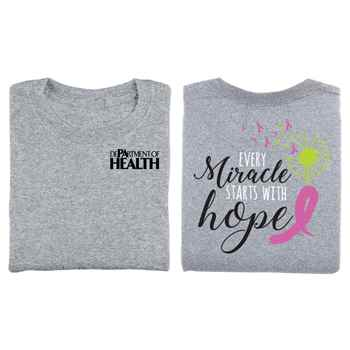 Every Miracle Starts With Hope Two-Sided Awareness T-Shirt - Personalization Available