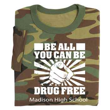 Be All You Can Be Drug Free Youth Positive T-Shirt - Personalized