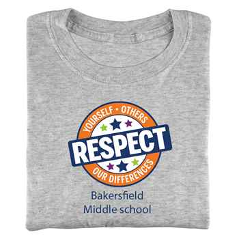 Respect Yourself, Others, Our Differences Adult Positive T-Shirt with Personalization