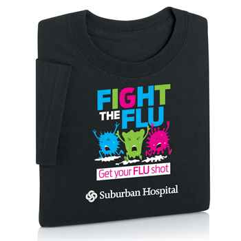 Fight The Flu: Get Your Flu Shot Awareness T-Shirt - Personalization Available