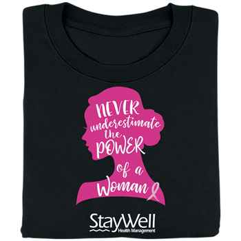 Never Underestimate The Power Of A Woman Awareness T-Shirt With Personalization