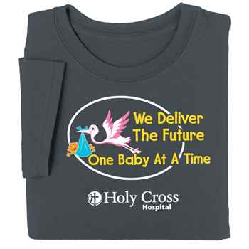 We Deliver The Future One Baby At A Time Breastfeeding Awareness T-Shirt - Personalization Available