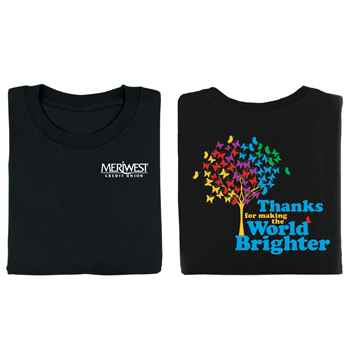 Thanks For Making The World Brighter 2-Sided Short Sleeve T-Shirt - Personalization Available