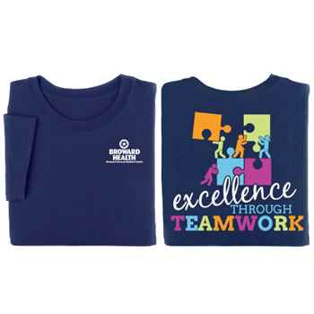 Excellence Through Teamwork 2-Sided T-Shirt - Personalization Available
