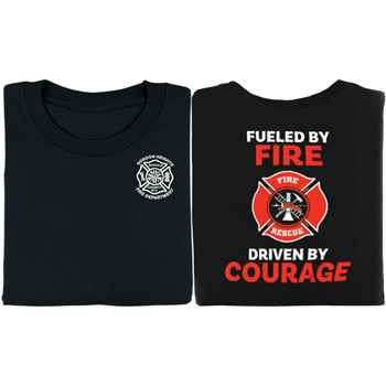 Fueled By Fire Driven By Courage Firefighters Bragging Rights Short-Sleeve T-Shirt - Personalized
