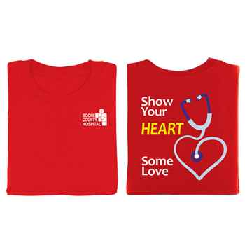Show Your Heart Some Love 2-Sided Short Sleeve T-Shirt - Personalized