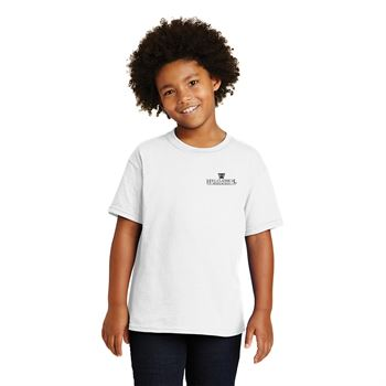 Gildan® Heavy Cotton Youth T-Shirt: White - Silkscreen Personalization Available