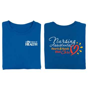 Nursing Assistants: Hearts & Hands That Care Two-Sided Short-Sleeve T-Shirt - Personalized