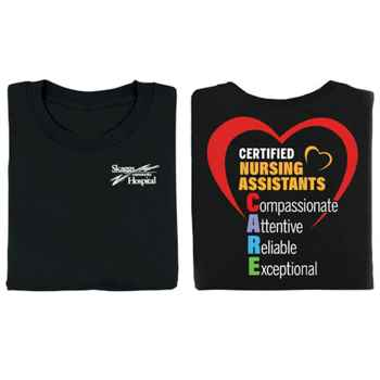 Certified Nursing Assistants CARE Two-Sided Short-Sleeve T-Shirt - Personalized