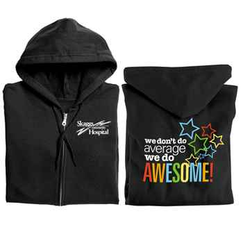 We Don't Do Average, We Do Awesome! Gildan® Full-Zip Hooded Sweatshirt - Personalization Available