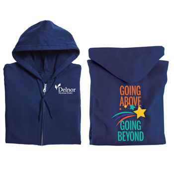 Going Above, Going Beyond Full-Zip Hooded Sweatshirt - Personalized