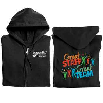Great Staff, Great Team Full-Zip Hooded Sweatshirt - Personalization Available