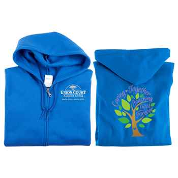Caring Together, Touching Lives Forever Full-Zip Hooded Sweatshirt - Personalized