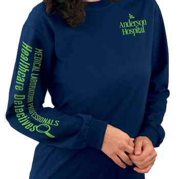 Medical Laboratory Professionals: Healthcare Detectives Long-Sleeve Recognition T-Shirt - Personalization Available