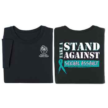 Take A Stand Against Sexual Assault 2-Sided T-Shirt - Personalized