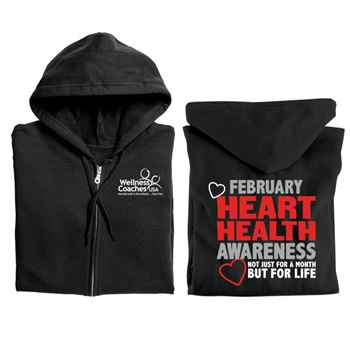Heart Health Awareness: Not Just For A Month But For Life Gildan® Full-Zip Hooded Sweatshirt - Personalized