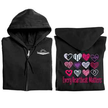 Every Heartbeat Matters Gildan® Full-Zip Hooded Sweatshirt - Personalized