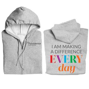 I Make A Difference Everyday Gildan Full-Zip Hooded Sweatshirt