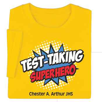 Test-Taking Superhero Youth T-Shirt - Personalization Available