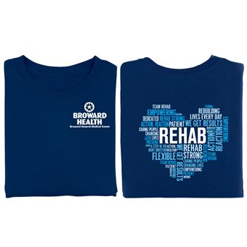 Rehab Heart Word Cloud Two-Sided Short Sleeve T-Shirt - Personalization Available