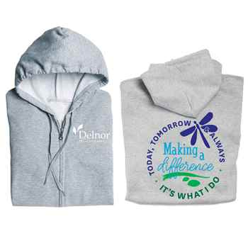 Making A Difference Today, Tomorrow & Always, It's What I Do Gildan® Full-Zip Hooded Sweatshirt - Personalization Available