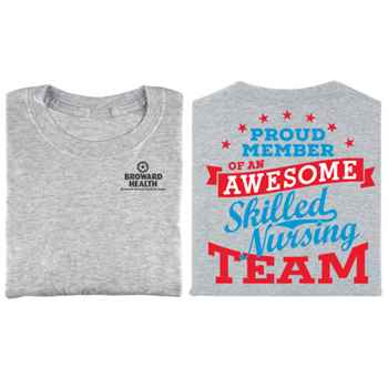 Proud Member Of An Awesome Skilled Nursing Team Two-Sided Short-Sleeve T-Shirt - Personalized