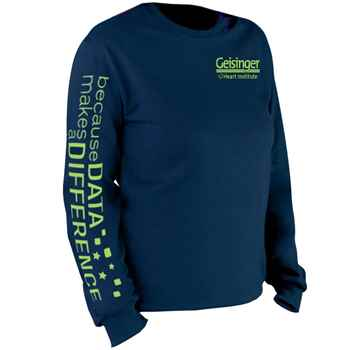 Because Data Makes A Difference Long-Sleeve 2-Location Recognition T-Shirt - Personalization Available