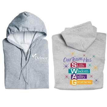 Our Team Has SWAG Gildan® Team Building Full-Zip Hooded Sweatshirt - Personalization Available