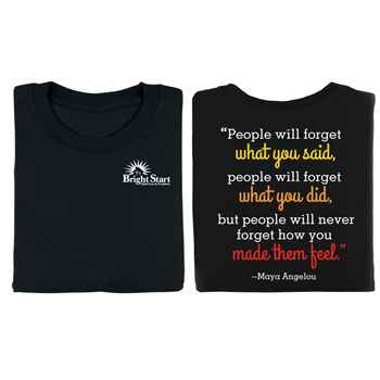 Maya Angelou Quote Positive 2-Sided T-Shirt - Personalization Available