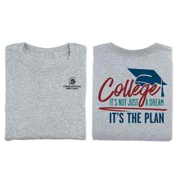 College: It's Not Just A Dream, It's The Plan™ Two-Sided Short-Sleeve Youth T-Shirt with Personalization