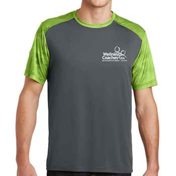 Sport-Tek® Men's CamoHex Colorblock Tee - Personalization Available