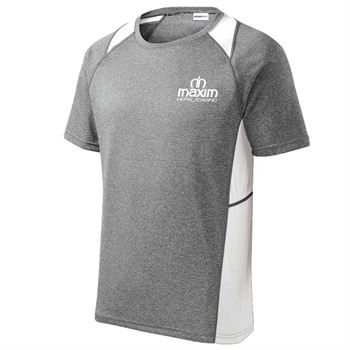 Sport-Tek® Men's Heather Contender™ Colorblock Tee - Personalization Available
