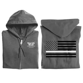 1bd930510 Thin White Line Flag Gildan® Full-Zip Hooded Sweatshirt - Personalized |  Positive Promotions