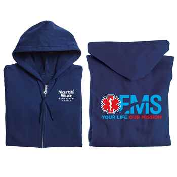 EMS: Your Life, Our Mission Gildan® Full-Zip Hooded Sweatshirt - Personalization Available
