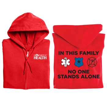 In This Family No One Stands Alone Gildan® Full-Zip Hooded Sweatshirt - Personalized
