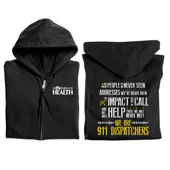 We Are 911 Dispatchers Gildan® Full-Zip Hooded Sweatshirt - Personalized