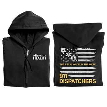 911 Dispatchers: The Calm Voice In The Dark Gildan® Full-Zip Hooded Sweatshirt - Personalized