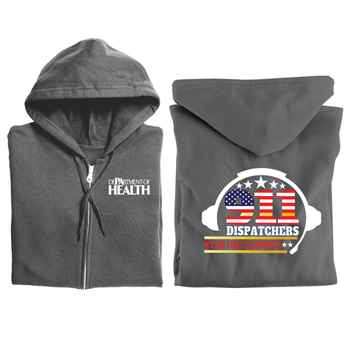 911 Dispatchers: We Are First Responders Gildan® Full-Zip Hooded Sweatshirt - Personalized