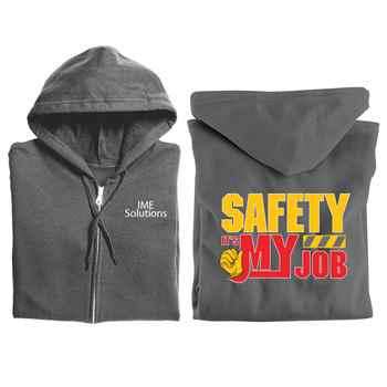 Safety: It's My Job Gildan® Full-Zip Hooded Sweatshirt with Personalization