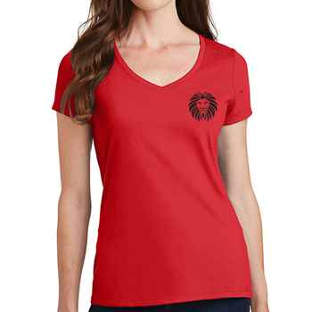 Port & Company® Ladies Fan Favorite™ V-Neck T-Shirt - Personalization Available