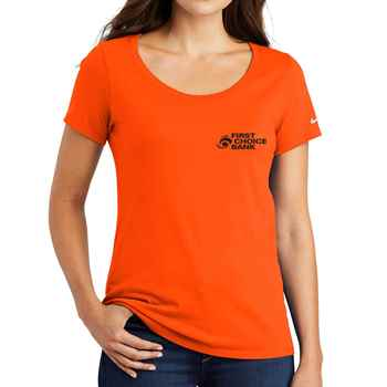 Nike® Women's Scoopneck Core Cotton T-Shirt - Personalization Available