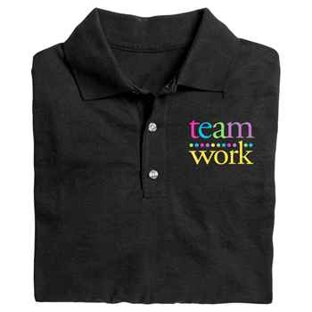 Teamwork Gildan® DryBlend Jersey Polo - Screenprinted Personalization Available