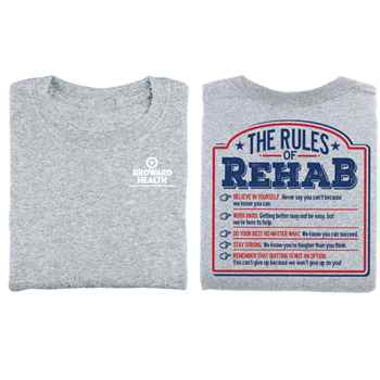 The Rules Of Rehab Two-Sided Short Sleeve T-Shirt - Personalized